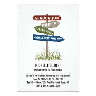 8vo fiesta de Gradution del grado de la placa de Invitación 12,7 X 17,8 Cm