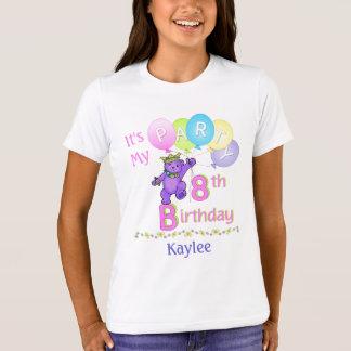 8vo Princesa Bear de la chica marchosa del Camiseta