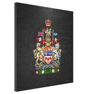[900] Escudo de armas de Canadá [3D] Impresión En Lona Estirada