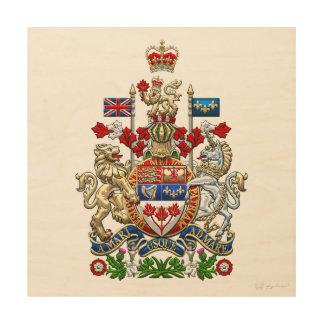 [900] Escudo de armas de Canadá [3D] Cuadros De Madera