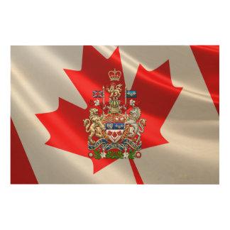 [900] Escudo de armas de Canadá [3D] Cuadro De Madera
