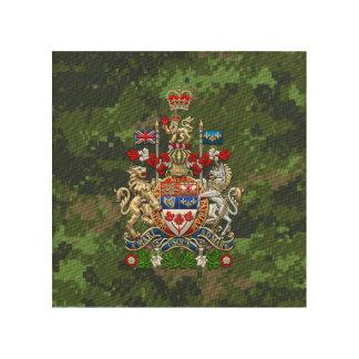 [900] Escudo de armas de Canadá [3D] Impresiones En Madera