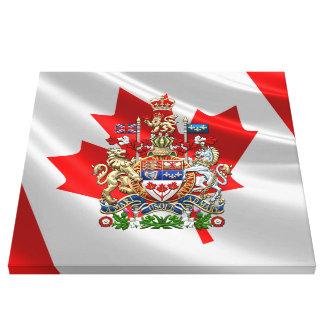 [900] Escudo de armas de Canadá [3D] Lienzo Envuelto Para Galerias