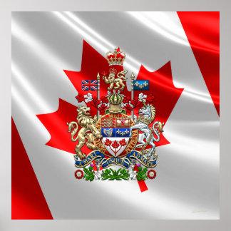 [900] Escudo de armas de Canadá [3D] Póster