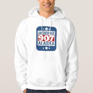 907 código de área de Anchorage AK Sudadera