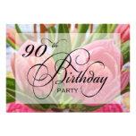 90.a invitación de la fiesta de cumpleaños del tul