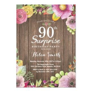 90.a invitación del cumpleaños de la sorpresa