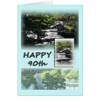 90.a tarjeta de felicitación feliz del cumpleaños