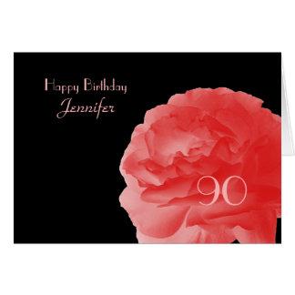 90.a tarjeta de felicitación feliz del cumpleaños,