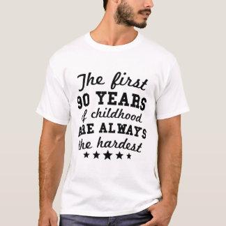 90 años de 90.o cumpleaños de la niñez camiseta