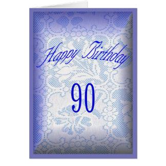 90 años del feliz cumpleaños tarjeta de felicitación