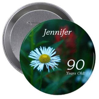 90 años, Pin del botón del WildFlower de la