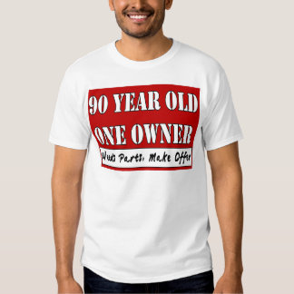 90 años, un dueño - las piezas de las necesidades, camisas