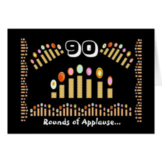 ¡90 aplausos - feliz cumpleaños! felicitación