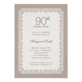 90.as invitaciones de la fiesta de cumpleaños del invitación 12,7 x 17,8 cm