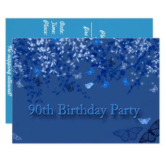90.as mariposas de la invitación de la fiesta de