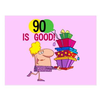 90 es buenos camisetas y regalos del cumpleaños postal