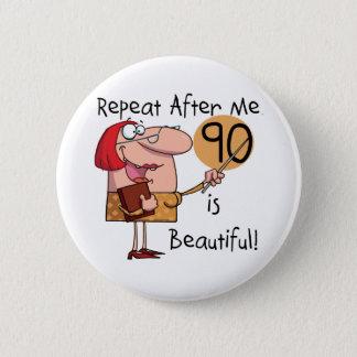 90 es camisetas y regalos hermosos chapa redonda de 5 cm