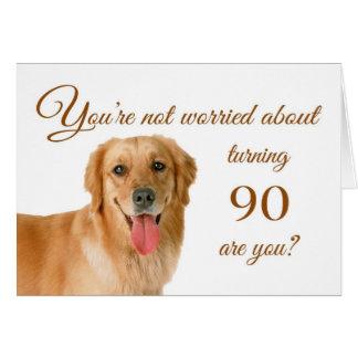 90.o cumpleaños feliz, laboratorio preocupante tarjeta de felicitación