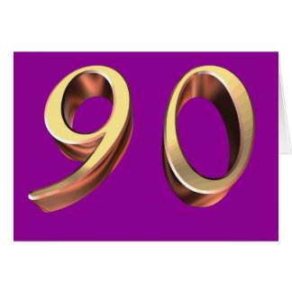 90.o cumpleaños feliz noventa 90 nonagésimos tarjeton