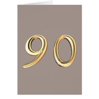 90.o cumpleaños feliz noventa 90 nonagésimos tarjeta de felicitación