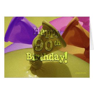 ¡90.o cumpleaños feliz! felicitacion