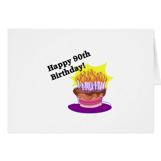 ¡90.o cumpleaños feliz! tarjetas