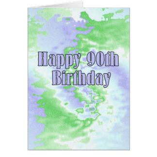 90.o cumpleaños feliz tarjeton