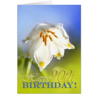 90.o cumpleaños feliz tarjetón