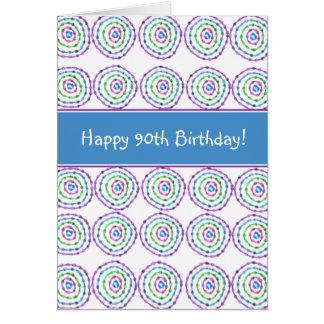 ¡90.o cumpleaños feliz! Tarjeta