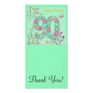 90.o cumpleaños feliz tarjetas fotográficas personalizadas