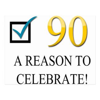 90.o cumpleaños feliz postal
