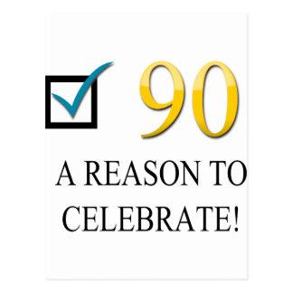 90.o cumpleaños feliz tarjeta postal