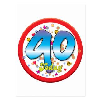 90.o Cumpleaños hoy Tarjetas Postales