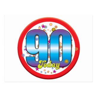 90.o Cumpleaños hoy v2 Postal