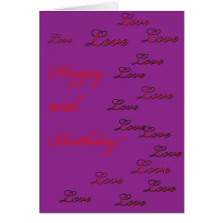90 o Cumpleaños Tarjeton