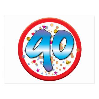 90.o Cumpleaños Postal