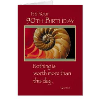 90.o espiral del cumpleaños 3826 tarjeta de felicitación