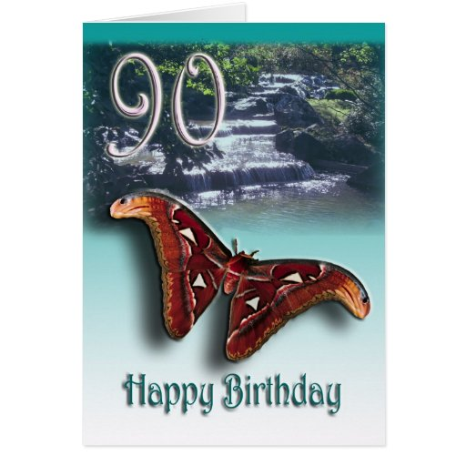 90.o Feliz cumpleaños Tarjeta