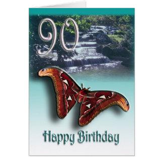90.o Feliz cumpleaños Tarjeta De Felicitación