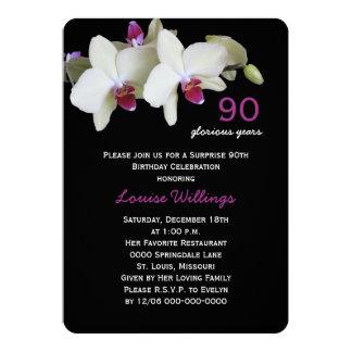 90.o Flor del amarillo de la fiesta de cumpleaños Invitación 12,7 X 17,8 Cm