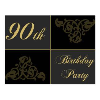 90.o Fuentes de la fiesta de cumpleaños Postales