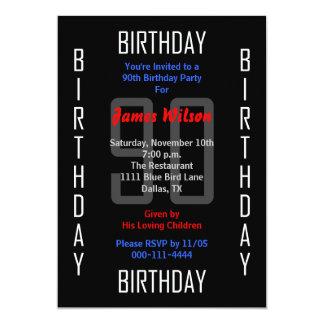90.o Invitación 90 de la fiesta de cumpleaños
