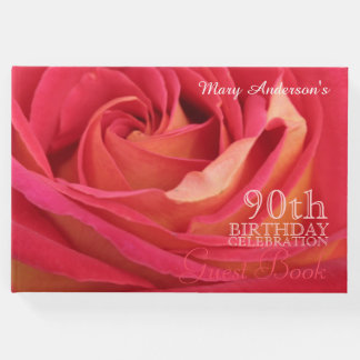 90.o libro de visitas color de rosa del
