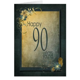 90.o marco del Cumpleaños-vintage Tarjeta De Felicitación