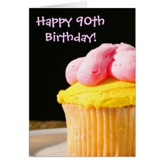 90 o mollete feliz del cumpleaños felicitación