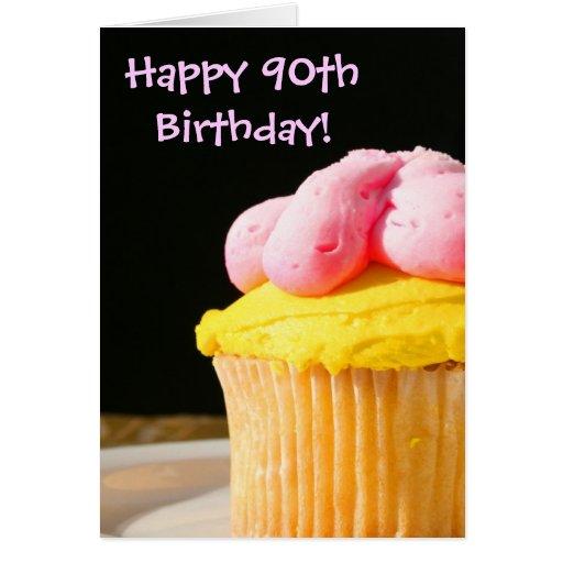 90.o mollete feliz del cumpleaños felicitación