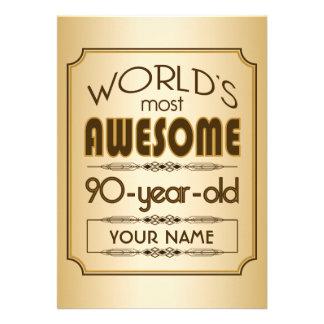 90 o mundo de la celebración del cumpleaños del or