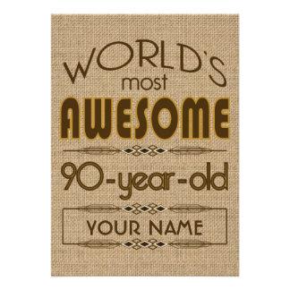 90 o Mundo de la celebración del cumpleaños mejor Comunicado Personal