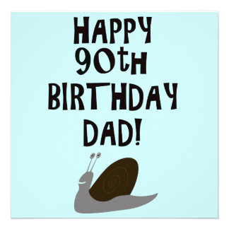 90 o papá y caracol felices del cumpleaños